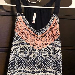 Xhilaration Tops - Xhilaration Blue/white/pink tank top XS